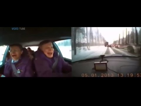Drivers Caught On Dashcam Inside The Car Before Crash