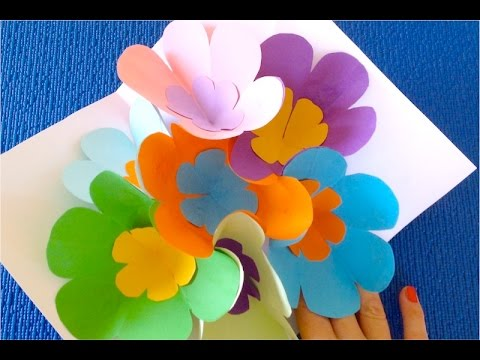 How to Make a Gift with Your Own Hands Master Class 3D flowers ♡ Tutorial 3D Hear  (PART 1)