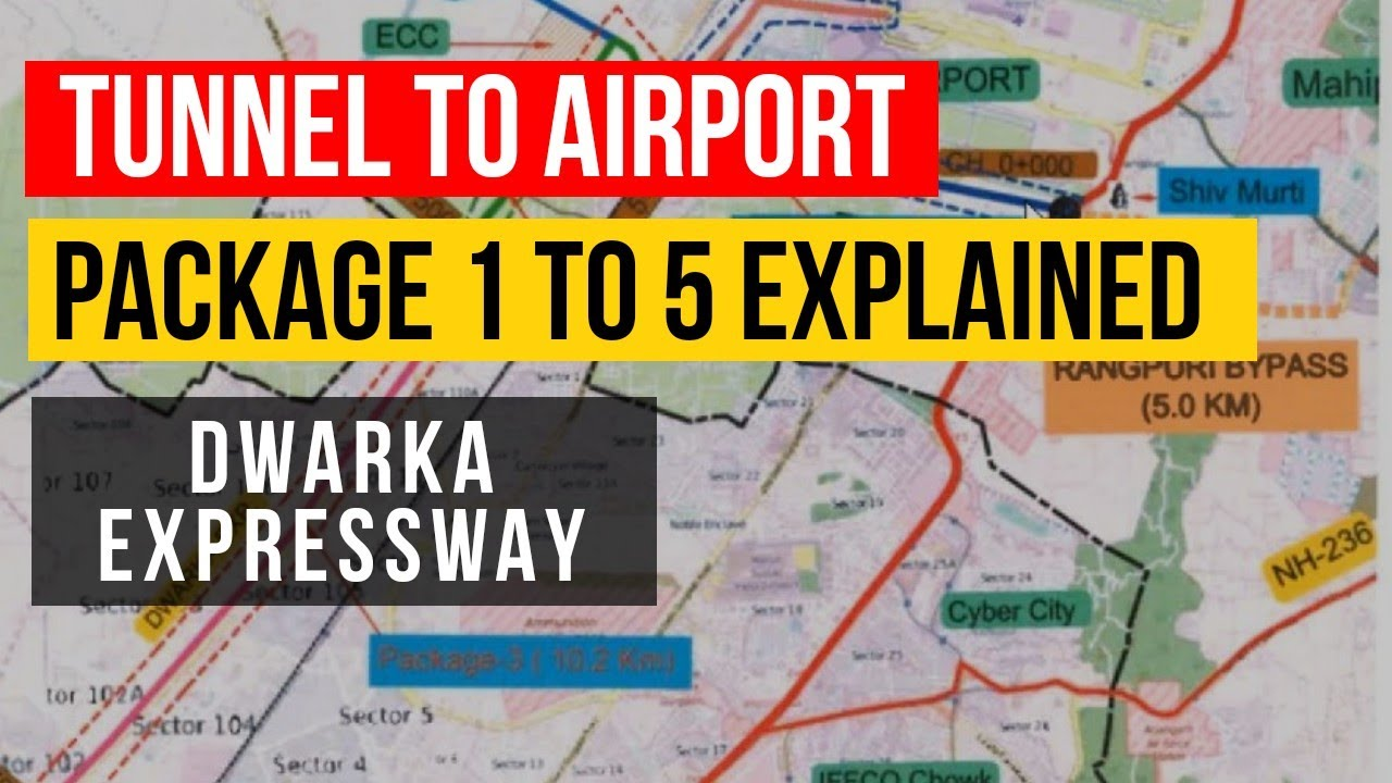 dwarka expressway route map Dwarka Expressway Delhi To Gurgaon Package 1 To 5 Explained On dwarka expressway route map