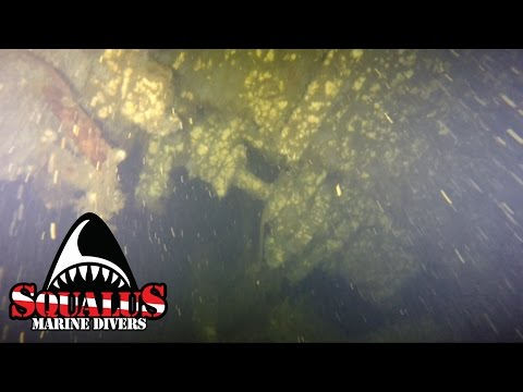 WRECK OF THE USS SAN DIEGO (Inside) PART 2 SHIPWRECK - SQUALUSMARINE.COM