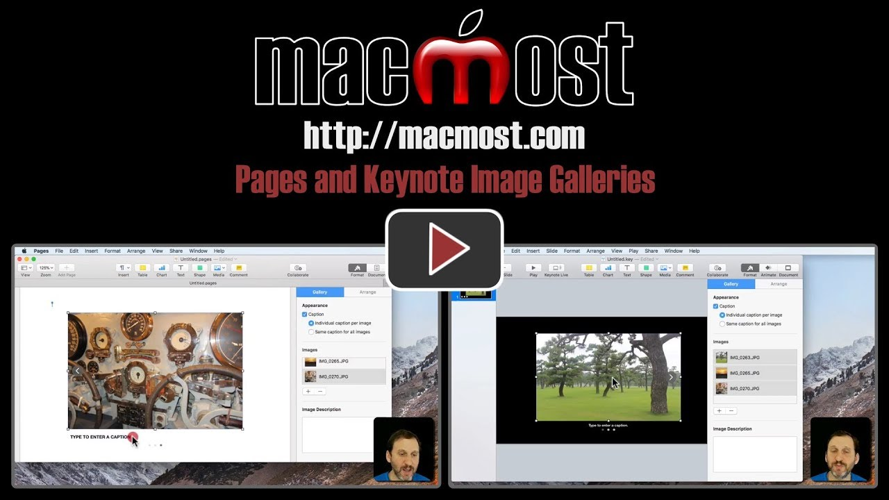 Pages and Keynote Image Galleries