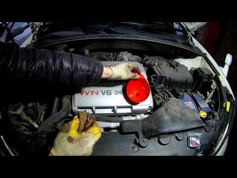Замена масла и фильтров на Тойота Харриер 2004 года Toyota Harrier