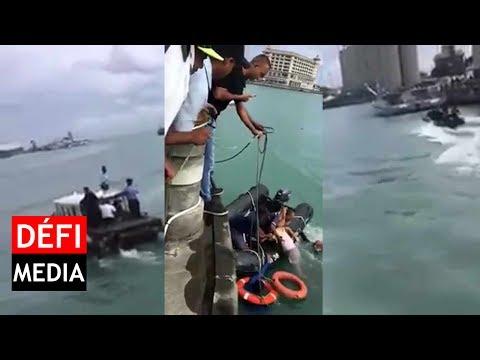Port-Louis Waterfront : un homme se jette dans l'eau