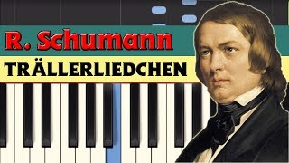 Trällerliedchen (Humming song) - Robert Schumann [Piano Tutorial] (Synthesia)