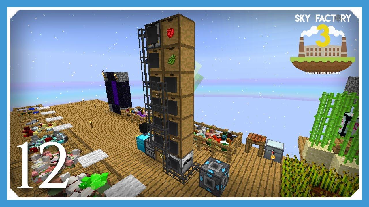 FTB Sky Factory 3   External Refined Storage!   E12 (Modded Skyblock  Minecraft 1 10 2)