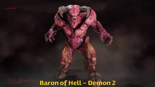 Doom 2016 All Multiplayer Demons in Action