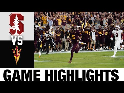 Stanford vs #22 Arizona State | Week 6 | 2021 College Football