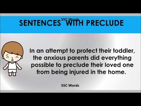 Preclude  # Improve English # Meaning and 5 sentences # GRE CAT GMAT word # SSC Words