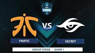Fnatic vs Secret | Game 1 | ESL One Katowice 2018