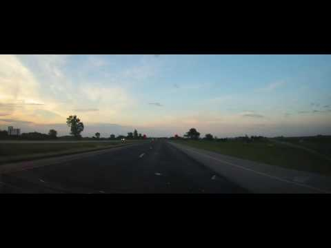 Driving on I29 from Sioux City to Kum & Go - Sloan, Iowa