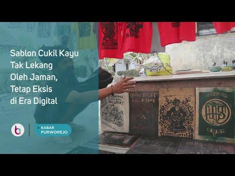 Sablon Cukil Kayu Tak Lekang Oleh Jaman, Tetap Eksis di Era Digital
