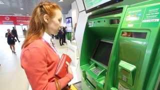 Говорящий банкомат Сбербанка