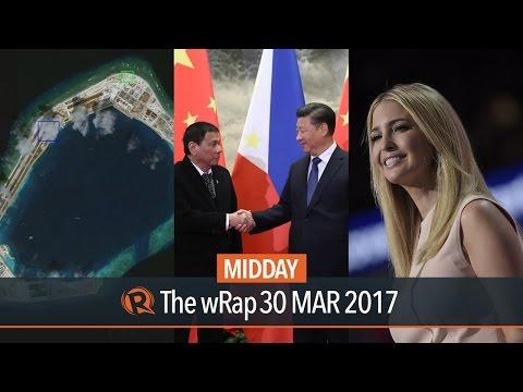 Philippines & China, impeachment complaint, Ivanka Trump | Midday wRap