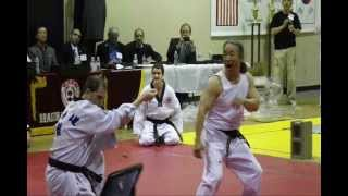 Jin Young Kim Teaching Taekwondo in Edmond  OK