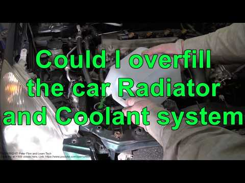 can i overfill the toyota car radiator and coolant system youtube toyota car radiator and coolant system