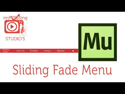 Sliding menu with fade in Adobe Muse©