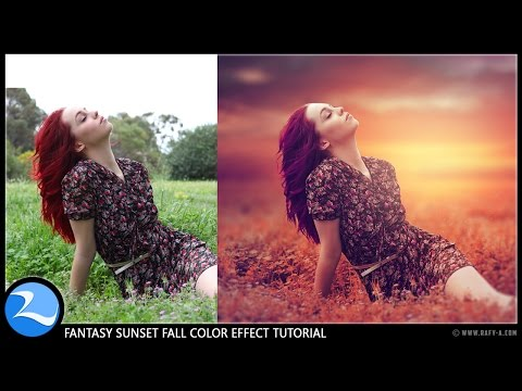 Photoshop CC Tutorial - Fantasy Sunset Fall Color Effects