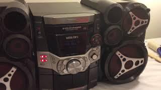 Panasonic Saak510 360watts Tri Amp 5cd Changer Cassette Mp3 WMA Shelf System