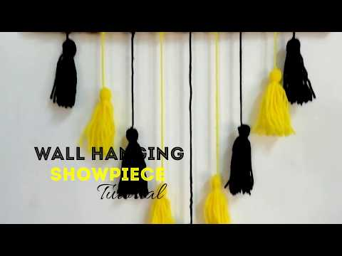 Simple Homemade and Trendy Wall Hanging Showpiece   CRAFT INDIA   DIY