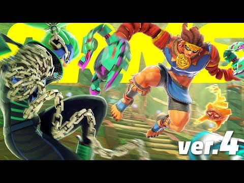 ARMS - Misango Gameplay & Springtron Battle