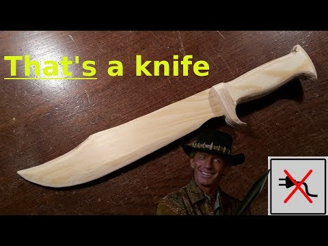 That's a knife! Crocodile Dundee's bowie knife - Free templates