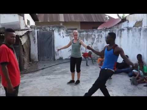 Tanzanians dancing norwegian halling