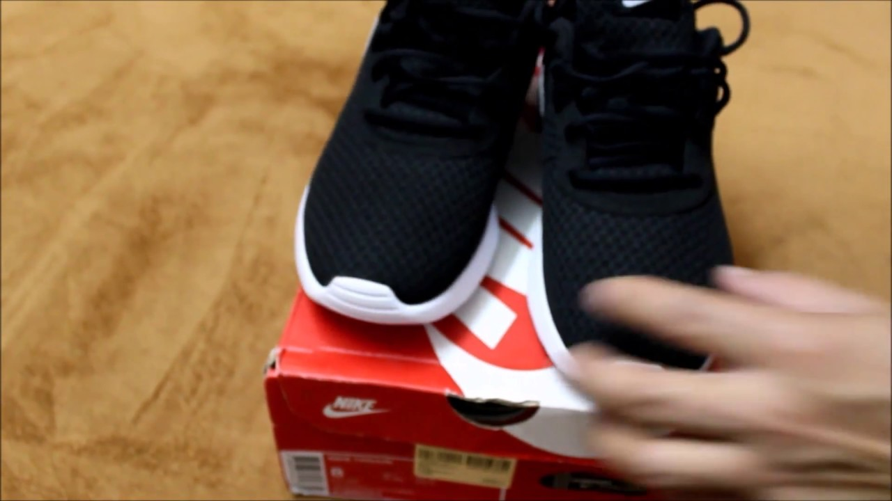buy popular b2d49 0103f Nike Tanjun  BlackWhite  Unboxing  on-feet