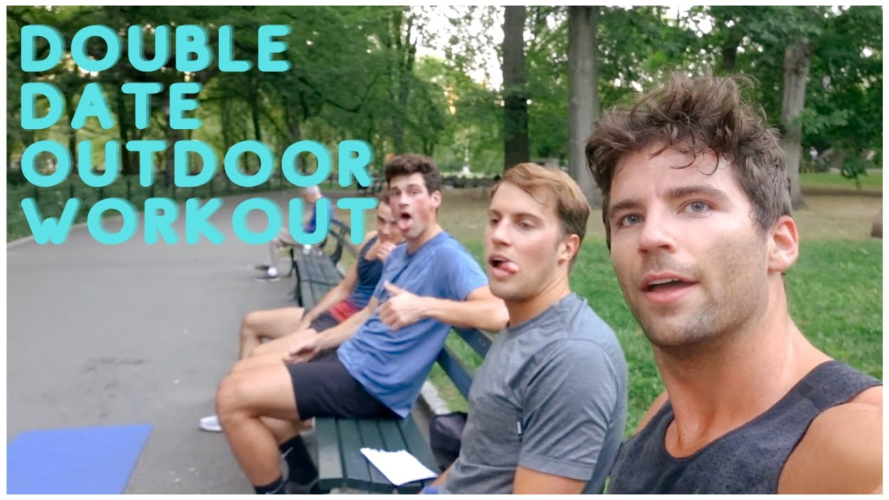 double date outdoor workout | Taylor and Jeff