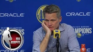 Steve Kerr gives update on Stephen Curry's ankle injury | NBA on ESPN