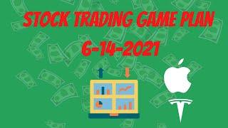 Trading Game Plan And Charting 6-14-2021 (TSLA NIO AAPL & More)