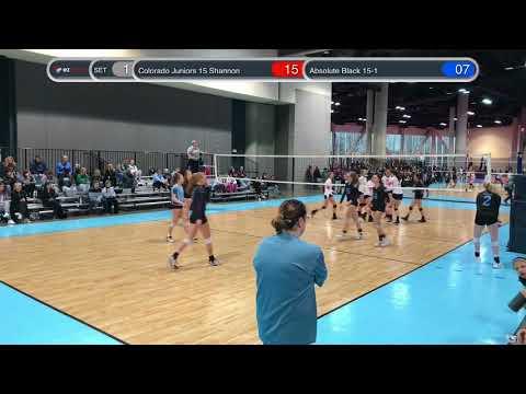 Colorado Juniors 15 Shannon vs Absolute Black 15 1 03/24/18