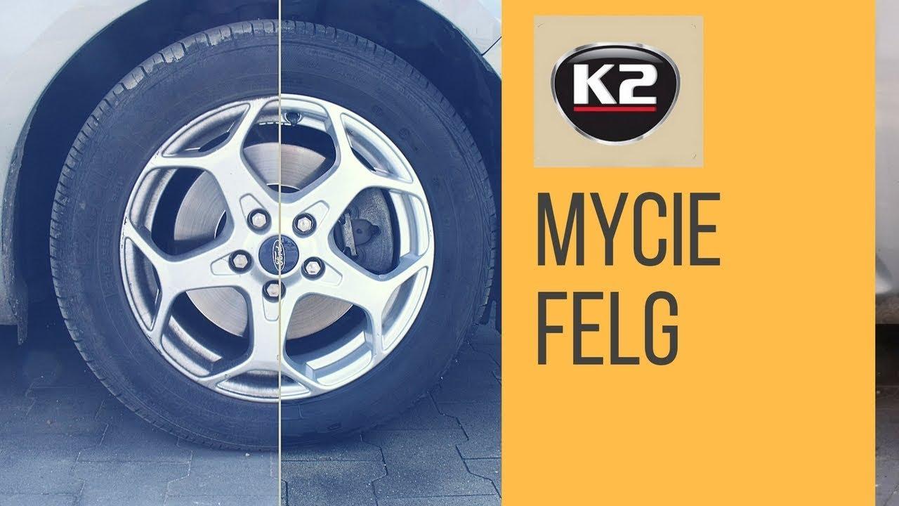 Jak Czyścić Felgi K2 Felix Płyn Do Skutecznego Mycia Felg Youtube