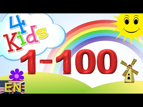 Numbers counting 1-100 Learning Video for children. Counting one to onehundred (english)