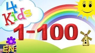Numbers Counting 1 100 Learning Video For Children Counting One To Onehundred English