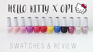 hello kitty by opi review and swatches