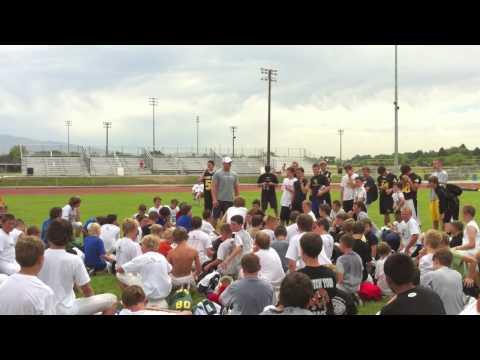 Richie Brockel at Bishop Kelly Football Camp