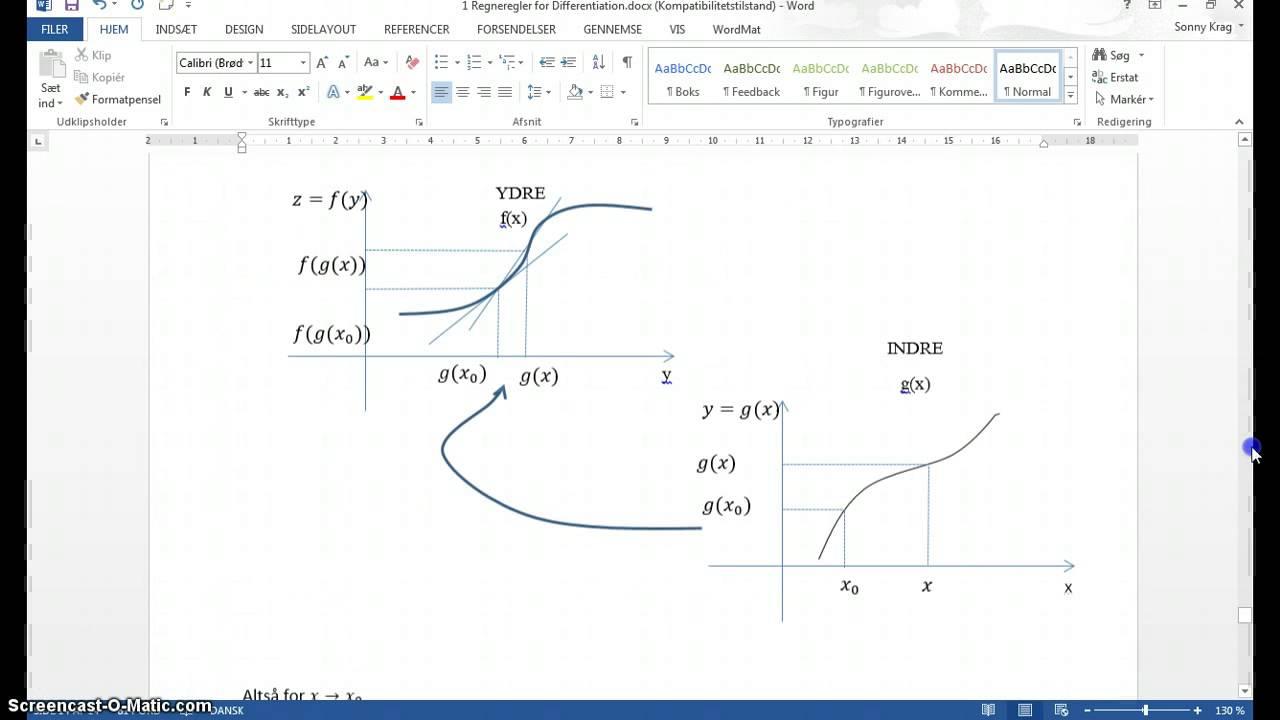 V20 eksempler afl af sammensat funktion