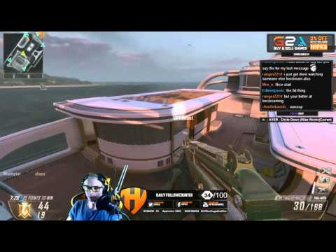 Call Of Duty: Black Ops 2- 43-2 TDM On Hijacked- During Livestream (60 Fps)