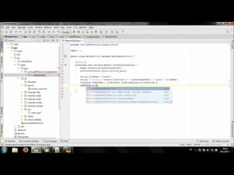 Develop simple Offline Video Player in Android Studio