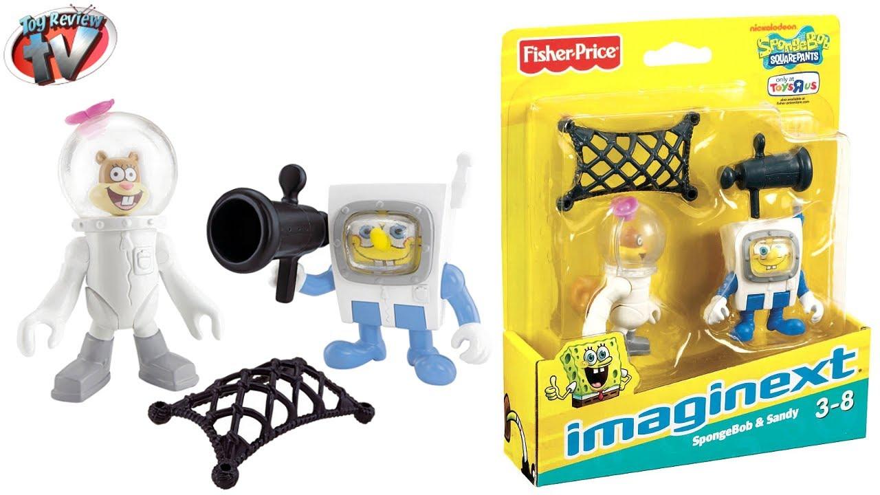 imaginext spongebob u0026 sandy figures twin pack toy review unboxing