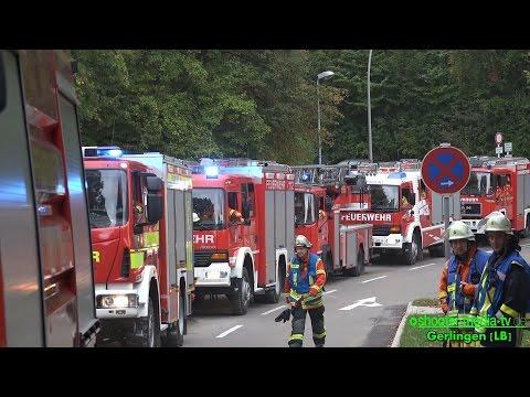 FEUERALARM IN KLINIK - Großeinsatz der Feuerwehren - RETTUNG, EVAKUIERUNG, SUCHE .... [Ü]