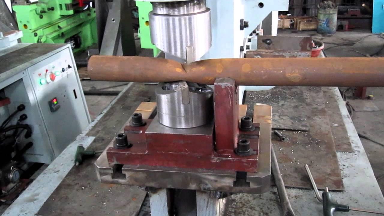 Pipe Cutting on Hydraulic Ironworker (machinesoffer@gmail ...
