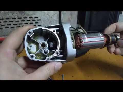 Замена ротора (якоря) на болгарке своими руками