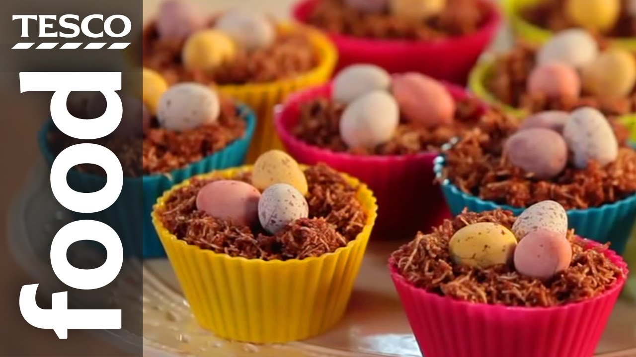 How to make chocolate nest easter cakes tesco food youtube negle