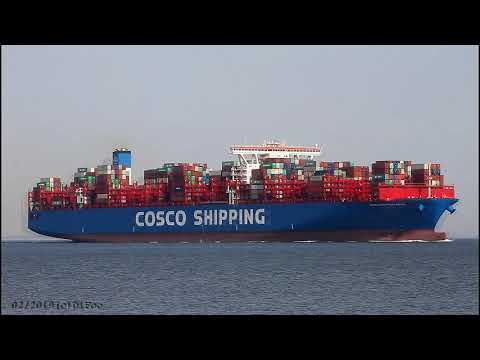 COSCO SHIPPING ARIES | Elbe Höhe Otterndorf