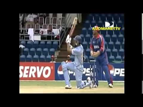 YUVRAJ 18 runs from Dwayne Leverock over , India vs Bermuda 2007