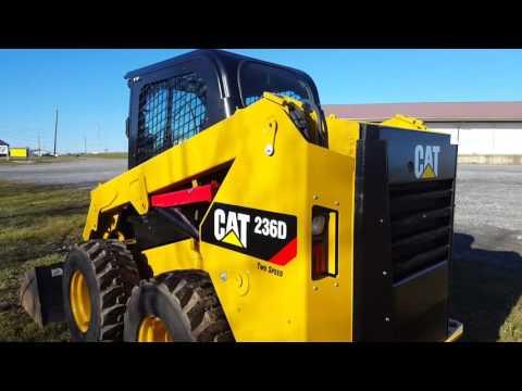 2014 Caterpillar 236D Skid Steer Loader 2 speed For Sale Inspection Video!
