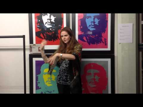 Susan Loughnane speaks at Jim FitzPatrick  Green Gallery Dublin 4th Dec 2014