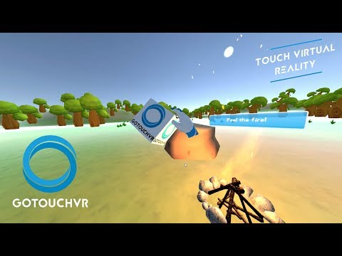 VR Touch haptic interaction demo at Vivatechnology by Go Touch VR