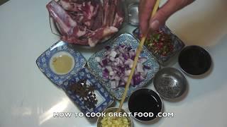 Chinese Sticky Chili Pork Ribs Recipe Video